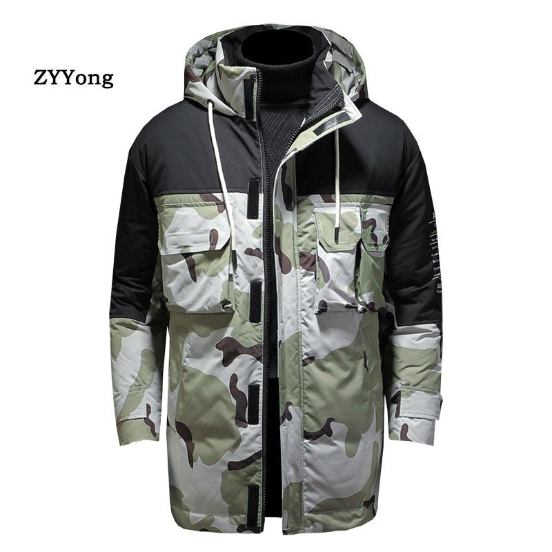 2020 мужские зимние куртки, толстая парка с капюшоном и меховым воротником, мужские пальто, повседневные стеганые мужские куртки, Мужская оде...