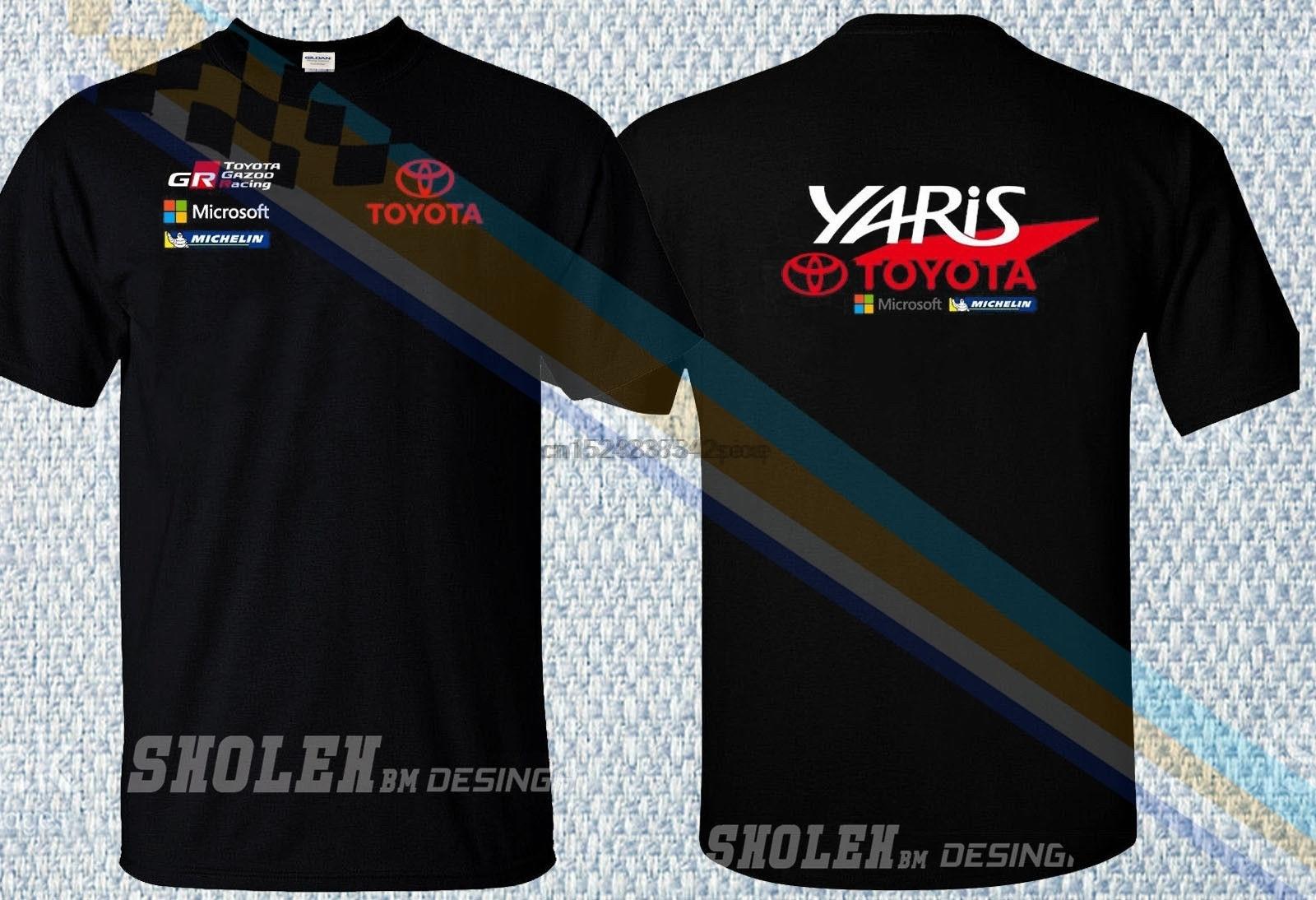 Ограниченная футболка TOYOTA YARIS GAZOO Racing WRC COROLLA Jari-Matti SPORT CAR