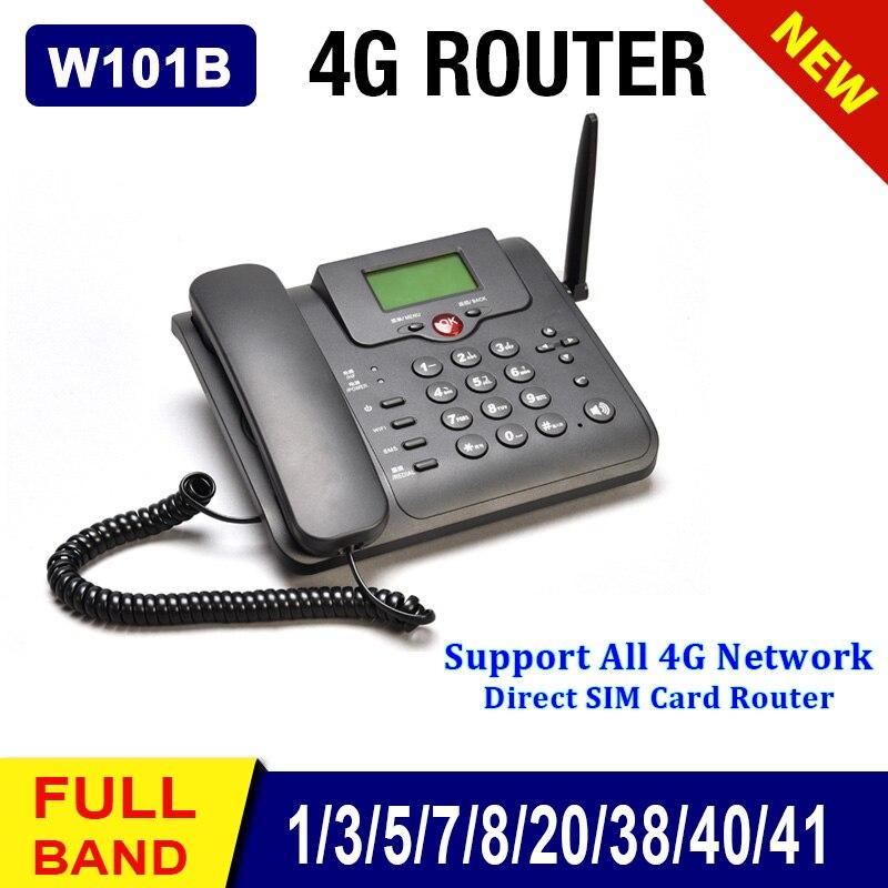 JHYZX W101B GSM 4G LTE Router Landline FDD4G Wifi Router GSM Desk Telephone Volte LTE Dongle Modem Sim Card Hotspot Fixe Phone