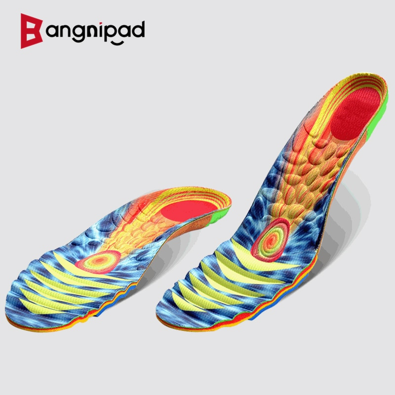 BANGNIPAD Professional Running Insoles Marathon Sports Shoes Pad Relieve Foot Pain Sweat Deodorant Breathable Sole for Men Women