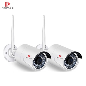 Pripaso Full HD 1080P 2.0MP Wi-Fi IP Camera Waterproof Outdoor Bullet Camera Home Security Night Vision CCTV Camera (2pack)