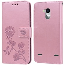 Luxury Leather Flip Book Case for ZTE Blade V7 Lite V7 Max Rose Flower Wallet Stand Case Phone Cover