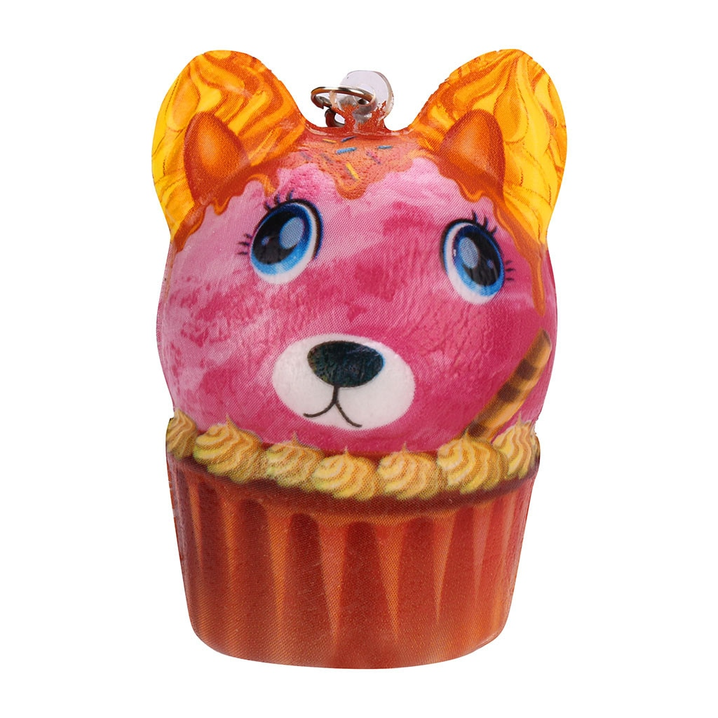 New Cake Puppy Pendant Scented Charm Slow Rising Keychain Stress Reliever Toys Fidget Toys Антистресс Детские Игрушки 2021