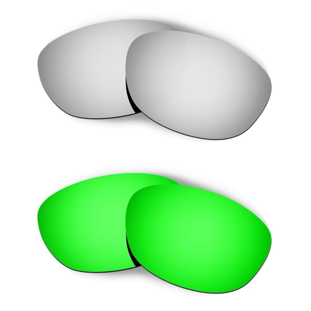HKUCO ل الخمسات 2.0 النظارات الشمسية استبدال العدسات المستقطبة 2 أزواج-الفضة و الأخضر