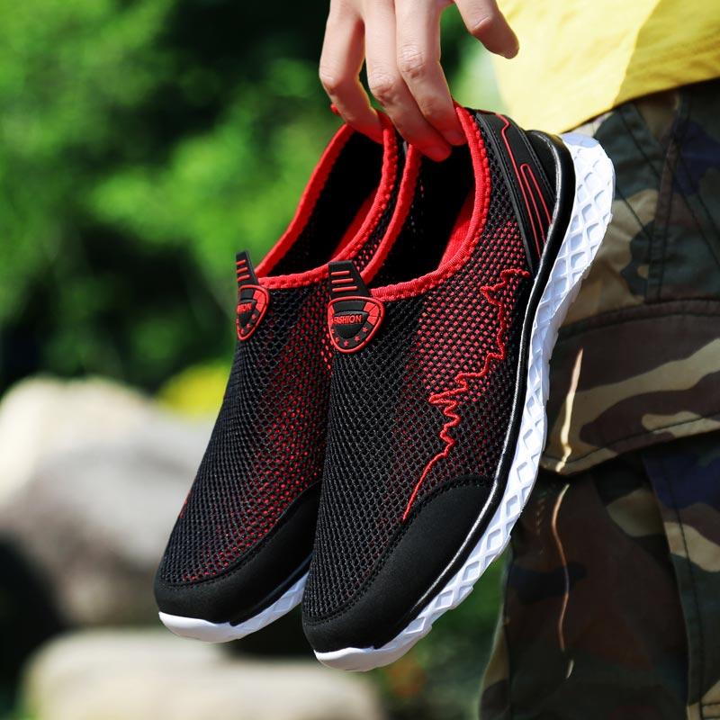 Calzado deportivo de verano de talla grande para hombre, zapatillas deportivas para hombre, zapatillas deportivas negras para hombre, calzado de entrenamiento para caminar, E-240 de Fitness