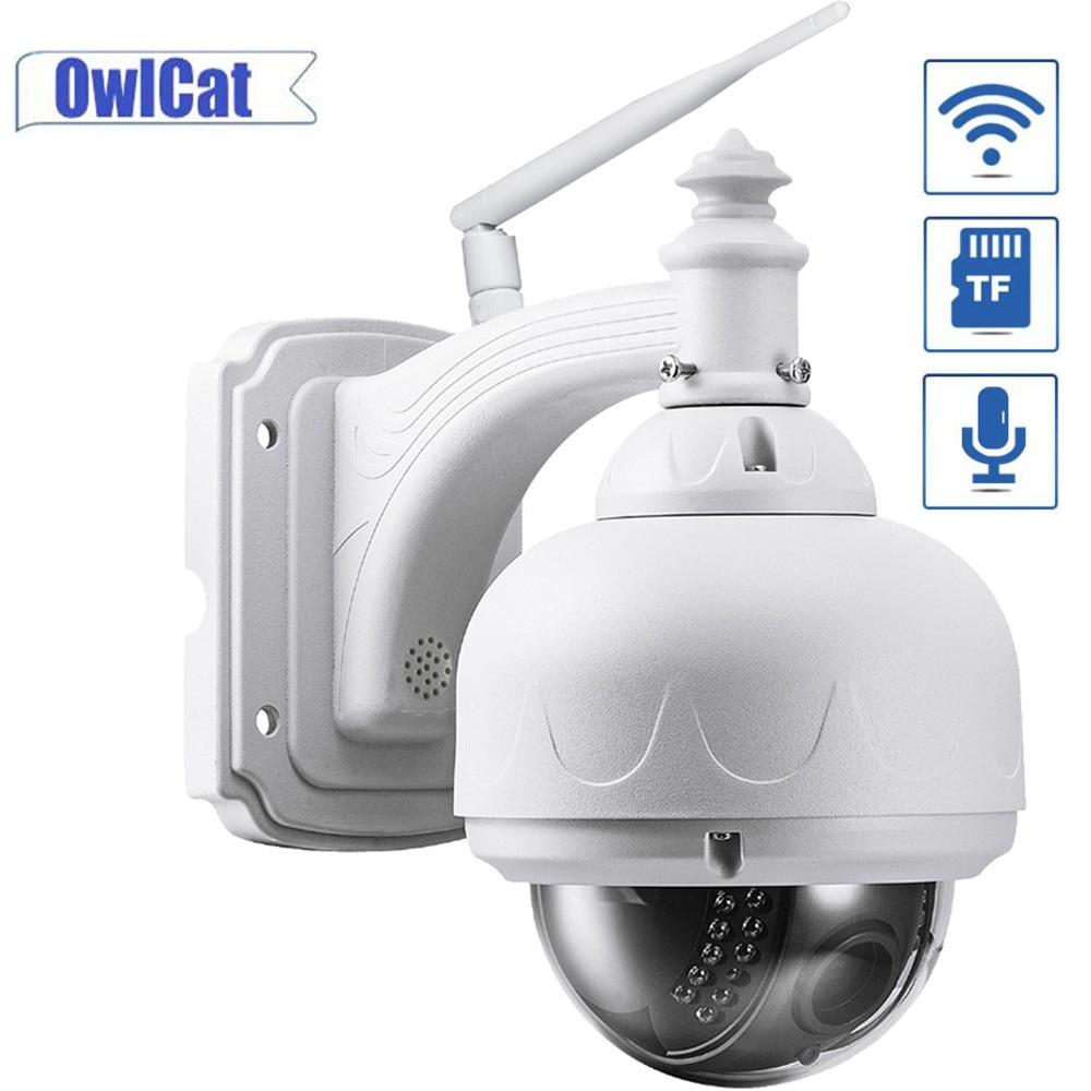 OwlCat-cámara domo Wifi, cámara IP de seguridad con Zoom 5X para exteriores, resistente al agua, inalámbrica, IR PTZ, CCTV, HD, 5MP/2MP, micrófono de Audio con ranura para memoria 128G