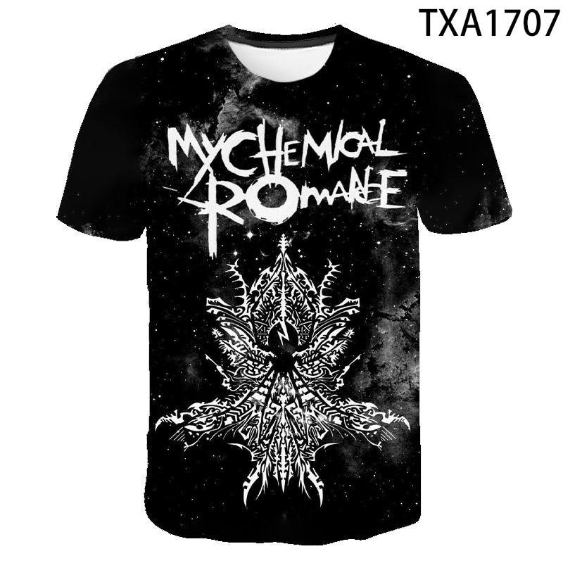 2020 nueva My Chemical Romance camiseta hombres mujeres niños Hip Hop Candle Punk Band Tops verano impresión 3D camiseta Harajuku Cool Tee