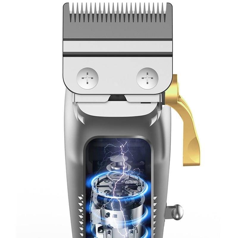 Original kemei adjustable cordless men electric hair clipper professional barber hair trimmer beard haircut machine rechargeable enlarge