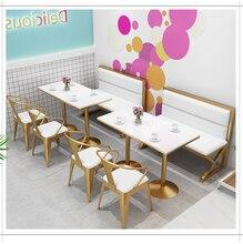 Thé stand canapé tables et chaises combinaison nordique simple loisirs rouge restaurant commercial dessert café tables et chaises