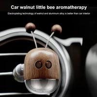 cute shaking car air fresheners little bee walnut air vent clip aromatherap perfume car diffuser interior decoration accessories