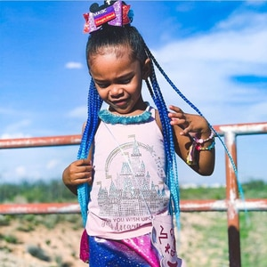 rainbow overhead tail colorful kanekalon box braids ponytail hair extensions with elastic band false pigtail