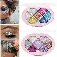 7 color waterproof eye makeup sequin makeup decoration diamond flash waterproof sequins pentagram shard moon stage makeup