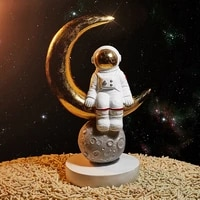 nordic space astronaut sculpture galaxy astronaut desk decor home decoration accessories best gift for girl
