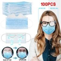 Face Adult Mask 100PC  fog Masks Disposable Face Masks 3-Ply Disposable Face Mask face mask fashion mascarillasdetela