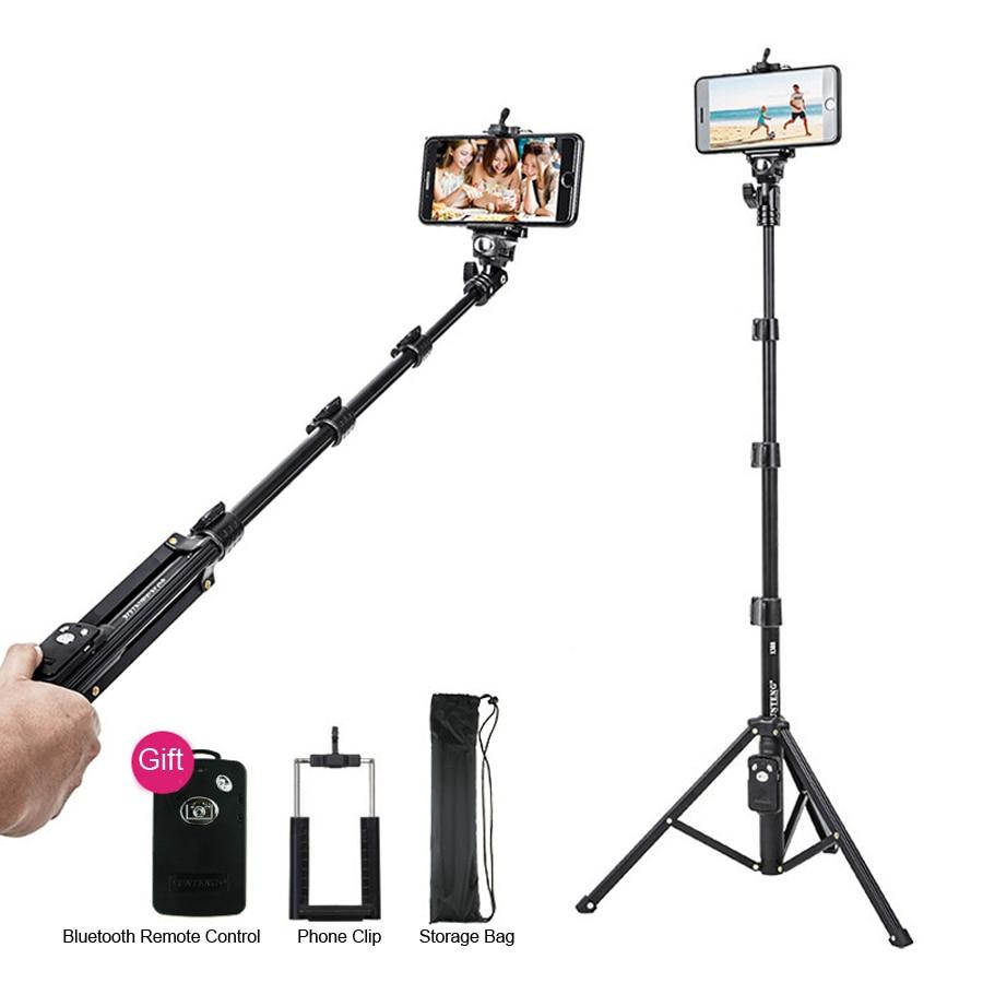 Bluetooth Phone Holder Selfie Stick Ring Light Tripod For Camera Reflector Stand Photo Studio Video Flash Lighting Support YE004