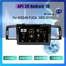 COHO For NISSAN FUGA   2005-2010 Android 10 AI Voice  8 Core 6+128G Gps WiFi 4G Radio Android Car Mu