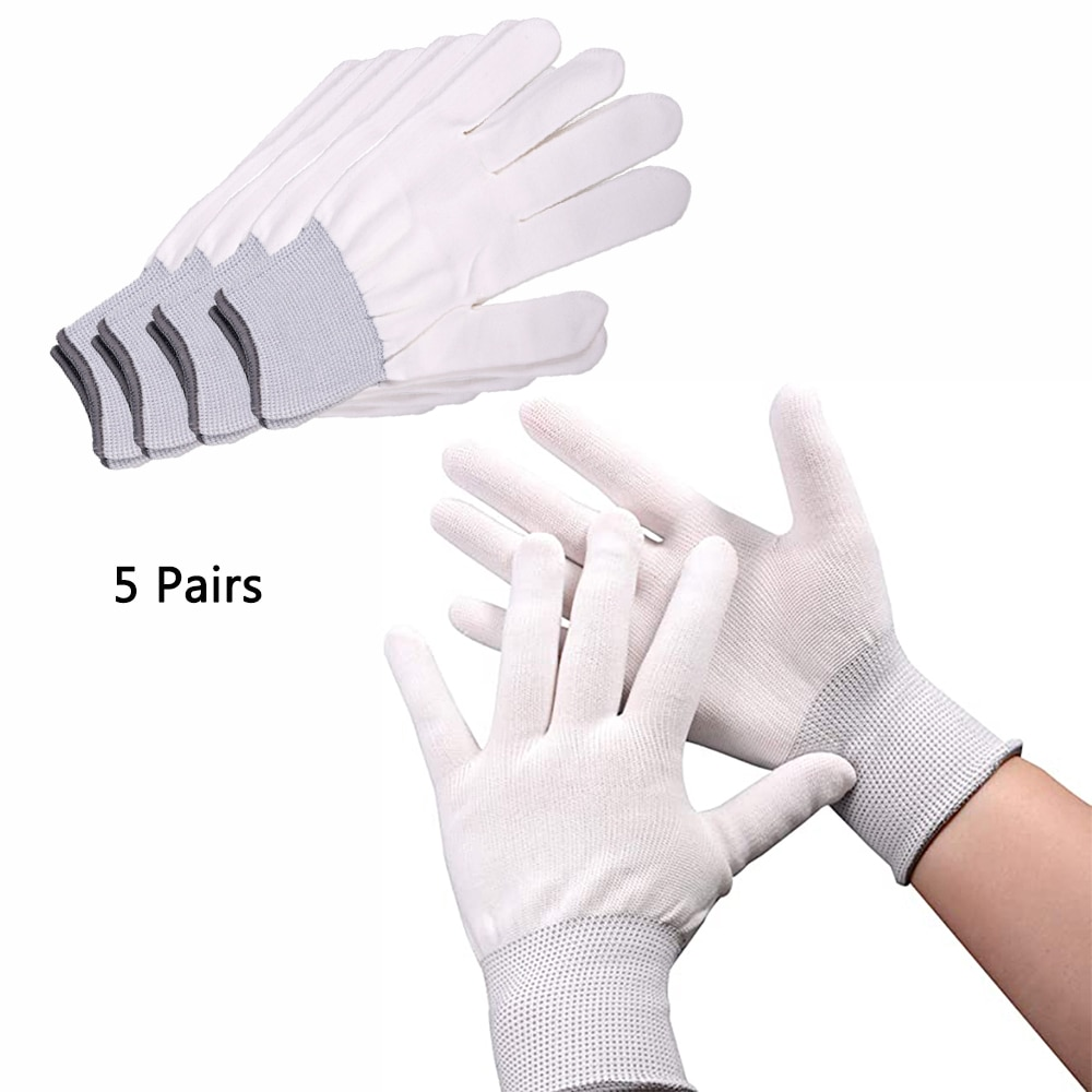 EHDIS 5/20 пар виниловые рабочие перчатки для упаковки окон Нескользящие нейлоновые перчатки для защиты пальцев ручные варежки автомобильные н...