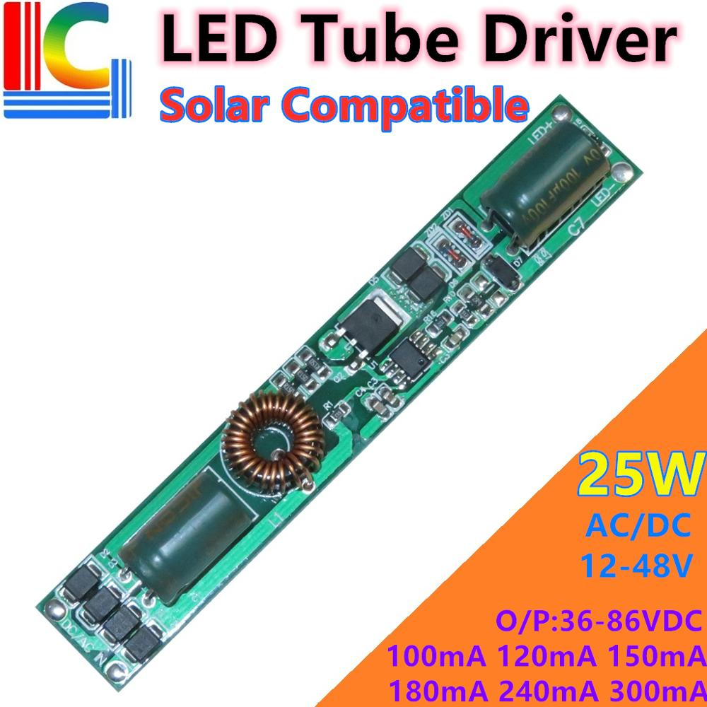 5W 10W 15W 18W 20W 25W LED Tube pilote AC/DC 12V 24V 36V PWM gradation 80mA 120mA 180mA 240mA 260mA pour T5 T8 Tube CE livraison gratuite