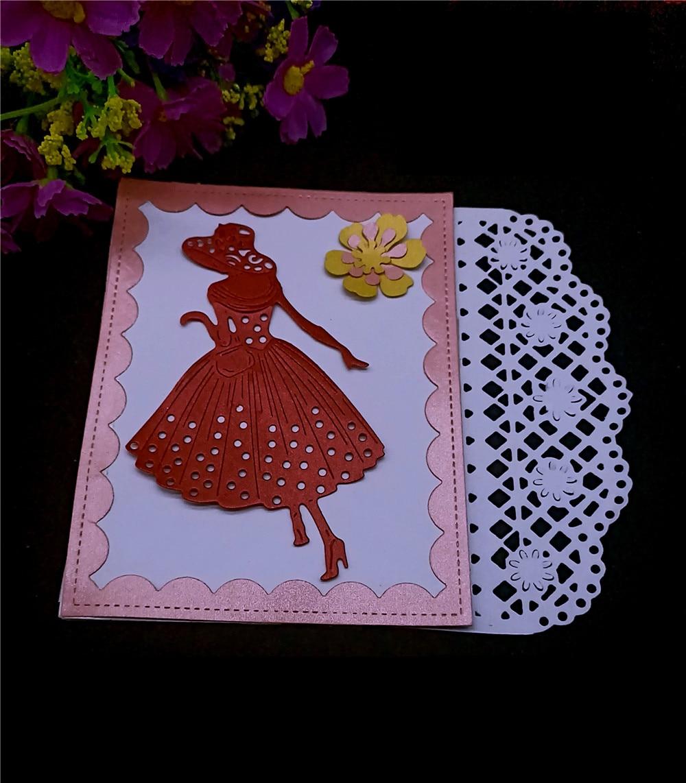 Dies Scrapbooking Stencil 3D Flower Lattice Border Background Metal Cutting New Craft Die Cut Stamp Christmas Card DIY