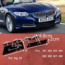 Przednia Grille godło uchwyt dla BMW M M1 M2 M3 M4 M5 M6 M7 M8 Logo M kolor odznaka samochodów stylizacja naklejka błyszczący czarny chrom srebrny