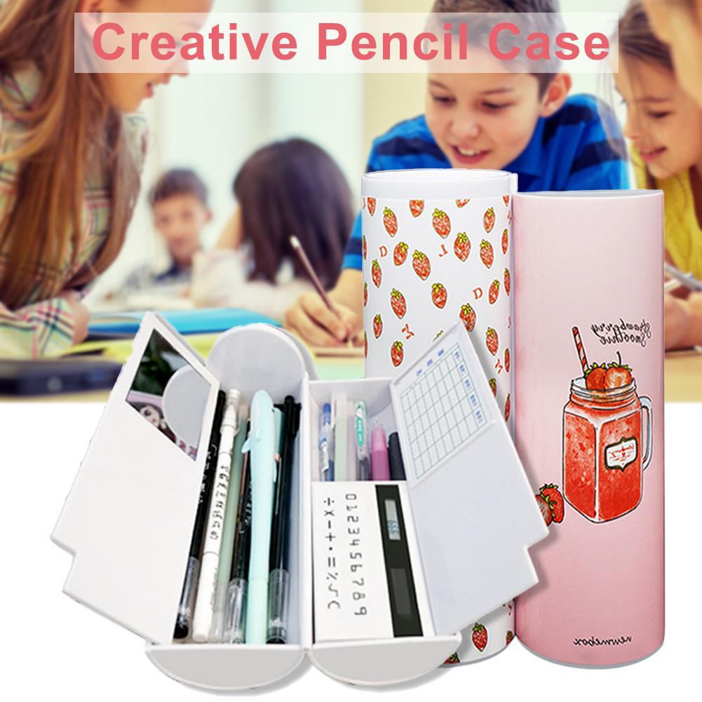 Caja de lápices multifunción creativa de gran capacidad Simple de la escuela primaria de la escuela secundaria del estudiante de papelería