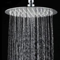 Pommes de douche amovibles portatives de pomme de douche de pluie ronde carree dacier inoxydable accessoires de salle de bains tenu dans la main a haute pression