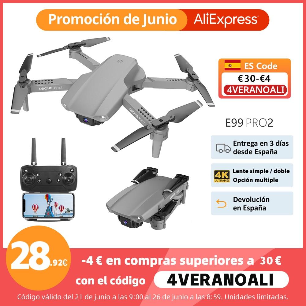 2021 New E99 Pro2 RC Mini Drone 4K 1080P Dual Camera WIFI FPV Aerial Photography Black And Gray Foldable Dron Quadcopter Toys