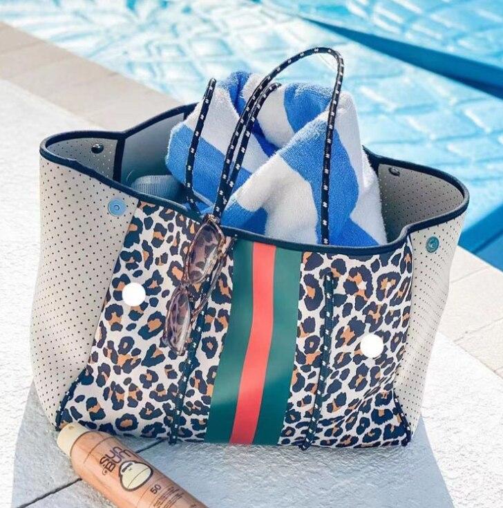 موضة جديدة إسبانيا المرأة الفاخرة حقيبة كتف كبيرة النيوبرين ضوء Bolsas الإناث السفر شاطئ عطلة حقائب السيدات حقائب
