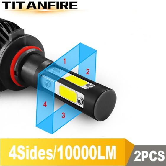 TF30 חדש 4 צד Lumens COB 100W 10000lm H4 Hi lo H7 H11 9005 9006 רכב LED פנס נורות אוטומטי Led פנס LED C6 אור 12v 24v