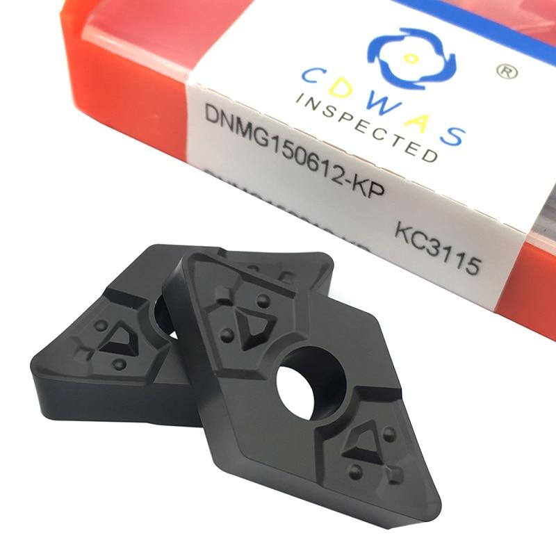 DNMG150612 KP KC3115 Caribde inserta herramientas de torno DNMG 150612 herramienta de corte CNC herramienta de torneado externo de alta calidad para hierro fundido