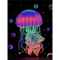 GATYZTORY colore meduses PEINTURE A LA MAIN Par Numeros Peinture A Lhuile Peinte A La Main de Tuer Le Temps Accessoires de Decoration Pour La Maison