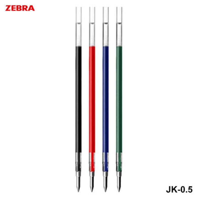 Repuestos de JK-0.5 de cebra para Zebra SJ3 Sarasa 3, J3J2, J4J1 bolígrafo de Gel 0,5mm-4 colores (negro, rojo, azul, verde) para elegir