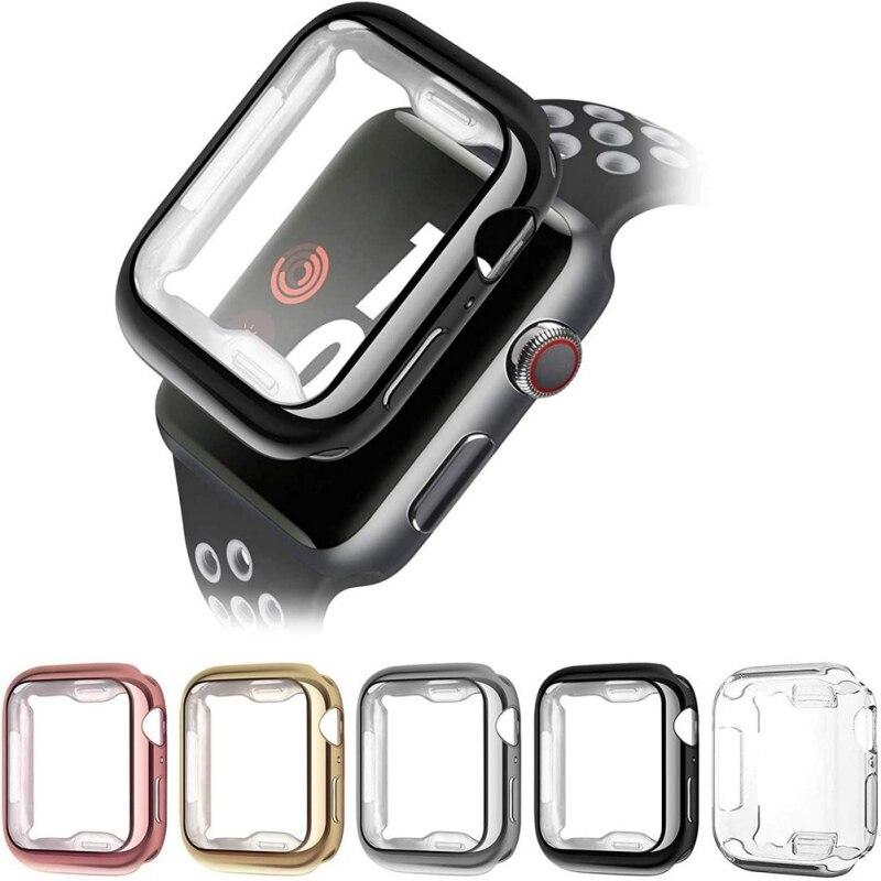 Для Apple Watch Чехол 1/2/3/4/5/6/SE общая Защитный чехол Чехол из ультратонкого ТПУ-Защитный чехол для Apple Watch 38 мм 40 мм 42 44 мм чехол