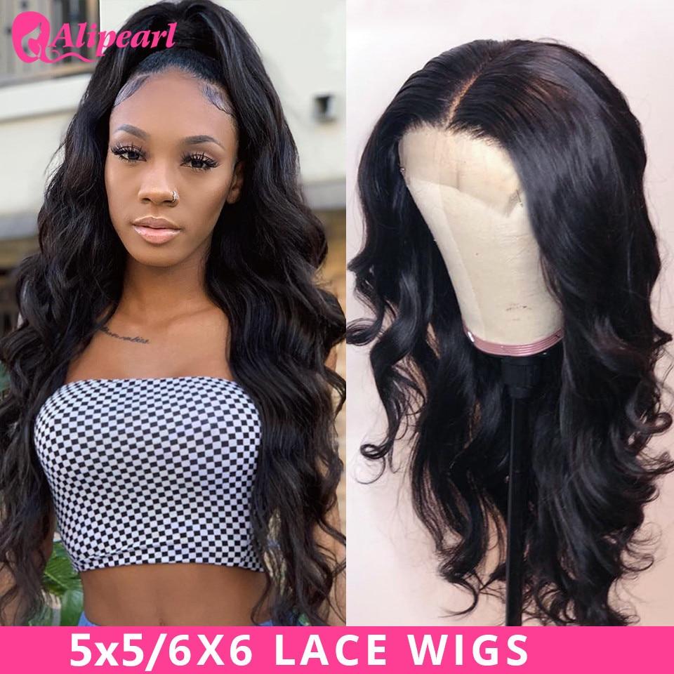 AliPearl Haar Perücken Körper Welle 6x6 Spitze Verschluss Perücke Menschenhaar Perücken Brasilianische 5x5 Spitze Perücken für Schwarze Frauen 150 180 Ali Perle Haar