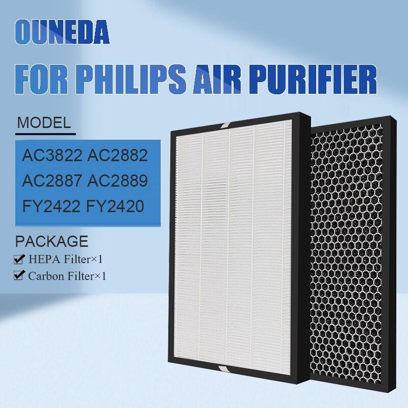لفيليبس FY2422 FY2420 فلتر HEPA فلتر الكربون ل AC3822 AC2882 AC2887 AC2889 لتنقية الهواء سلسلة 2000 2000i