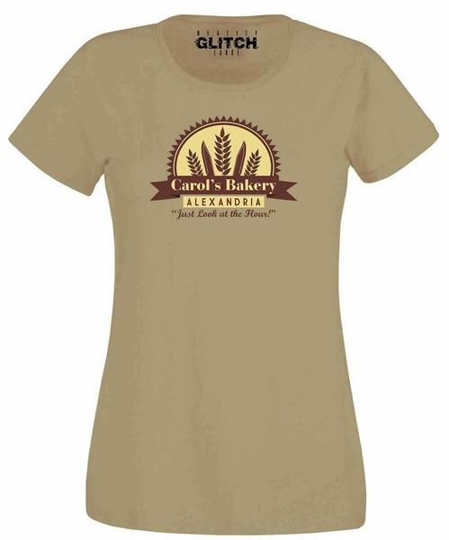 Carols Bakery Womens T-Shirt - Funny Ladies Dead Zombie Top Walking Alexandria
