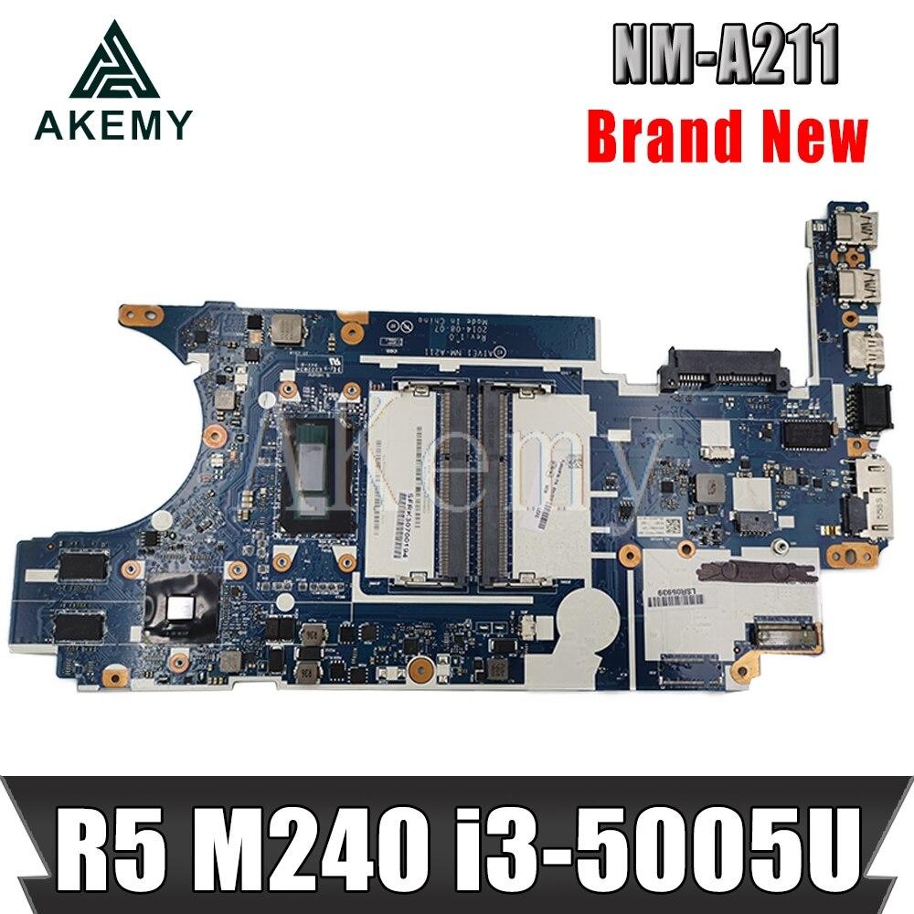 Akemy For Lenovo Thinkpad L460 01YR812 NM-A651 Laotop Mainboard NM-A651 Motherboard with R5-M330 i5-6200U CPU