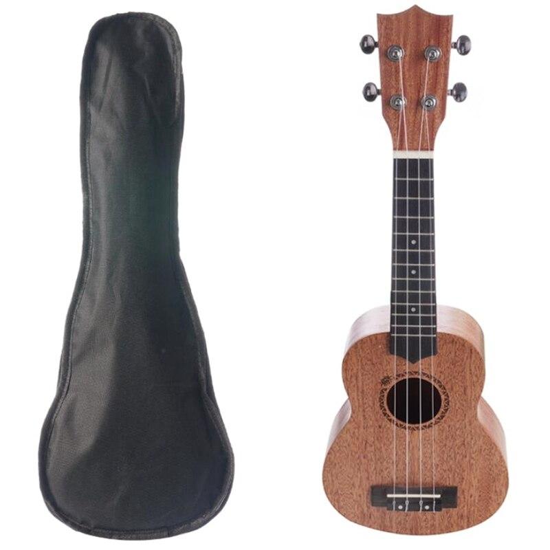 21 بوصة القيثارة تينور سوبرانو الماهوجني روزوود 4 سلاسل جيتار هاواي القيثارة حقيبة الآلات الموسيقية