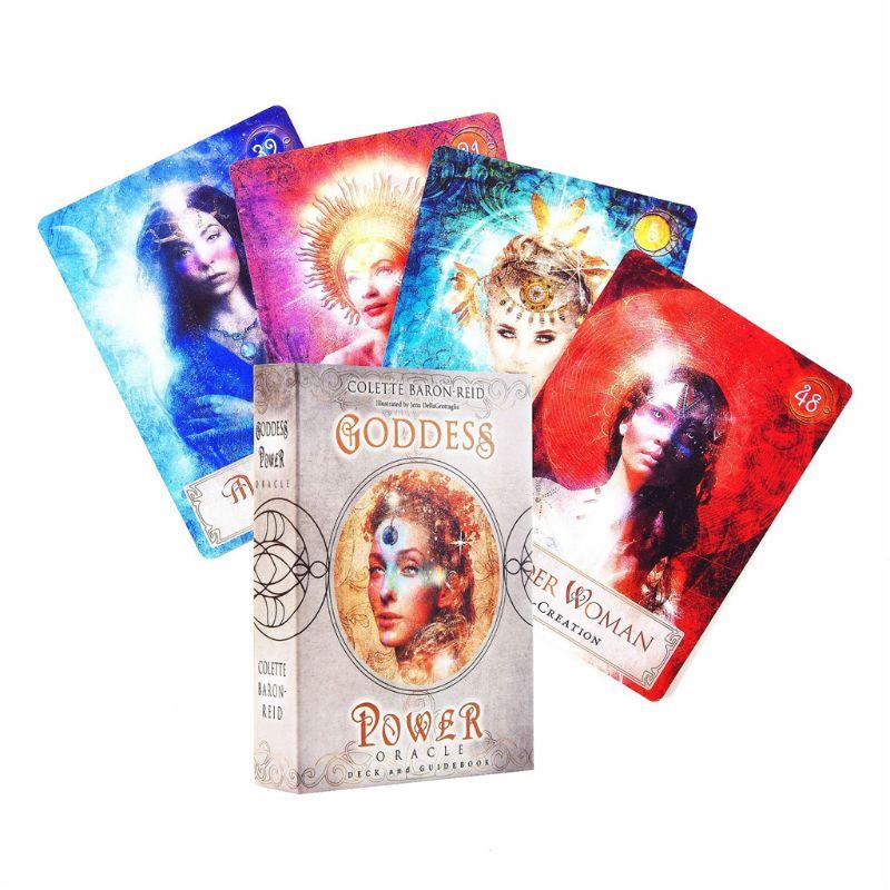 Juego de mesa completo Inglés 52 Uds cartas Tarot diosa potencia oráculo cubierta y guía libro familia fiesta