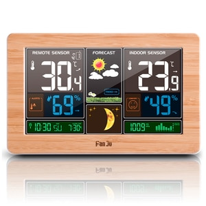 Wireless Weather Station Indoor Outdoor 3-in-1 Weather Thermometer Hygrometer Barometer USB Powered Room Temperature Monitor