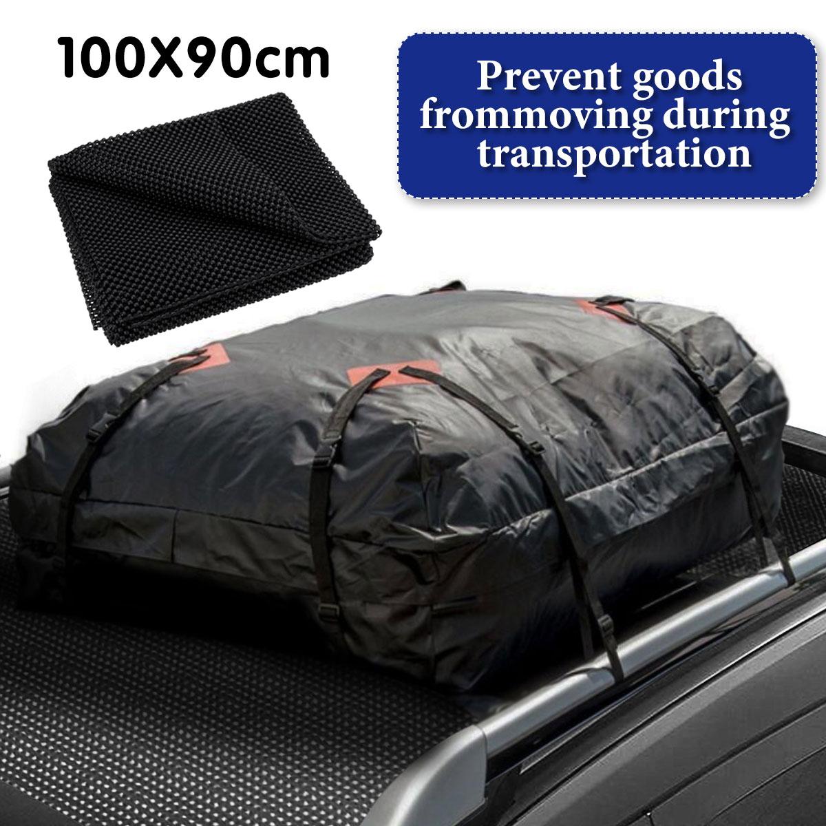 100x90CM techo superior del coche maletero trasero SUV equipaje de carga bolsa de equipaje antideslizante estera cojín acolchado tapetes plegables cubierta