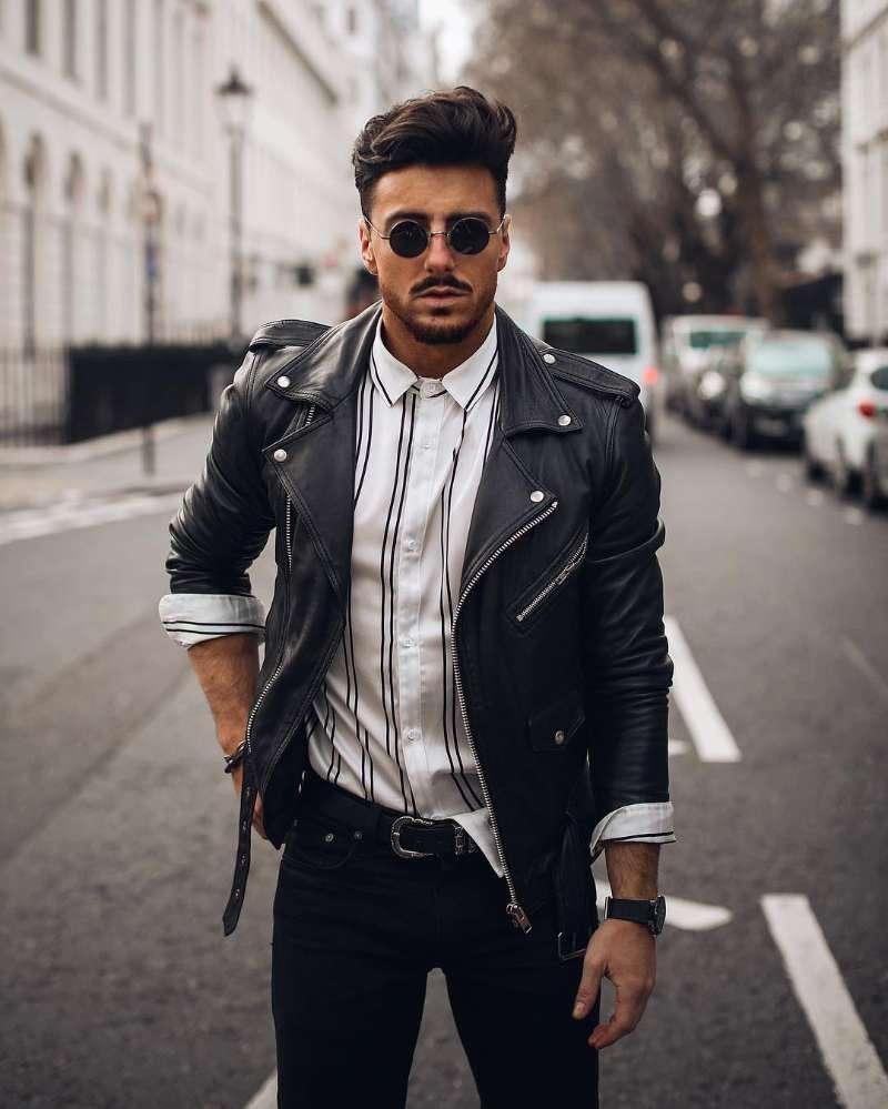 chaqueta de cuero desgastado con Motor para hombre, ropa de vestir, Estilo Vintage, para otoño, 2021 chaqueta de hombre de nuevo estilo cortavientos de moda para hombre