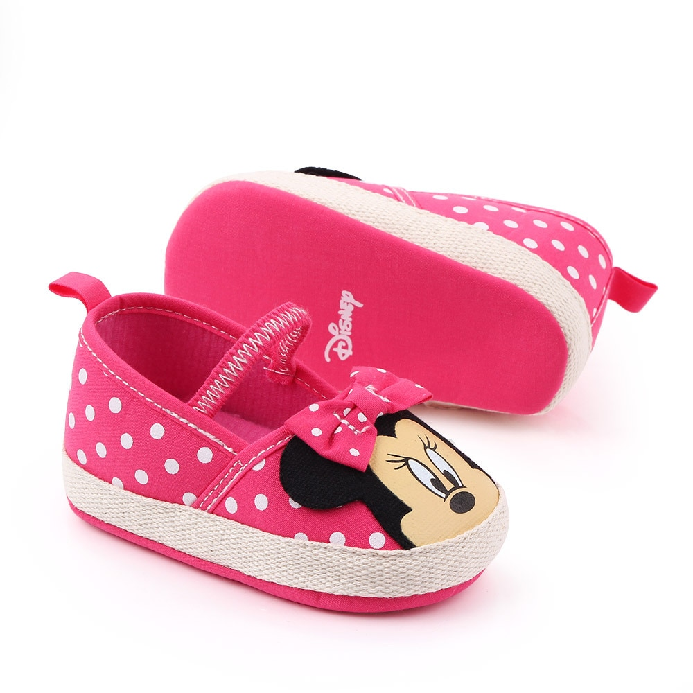 AliExpress - Disney Minnie mouse spring and summer new 0-1 female baby Crib shoes soft bottom cartoon Princess baby girls  toddler shoes