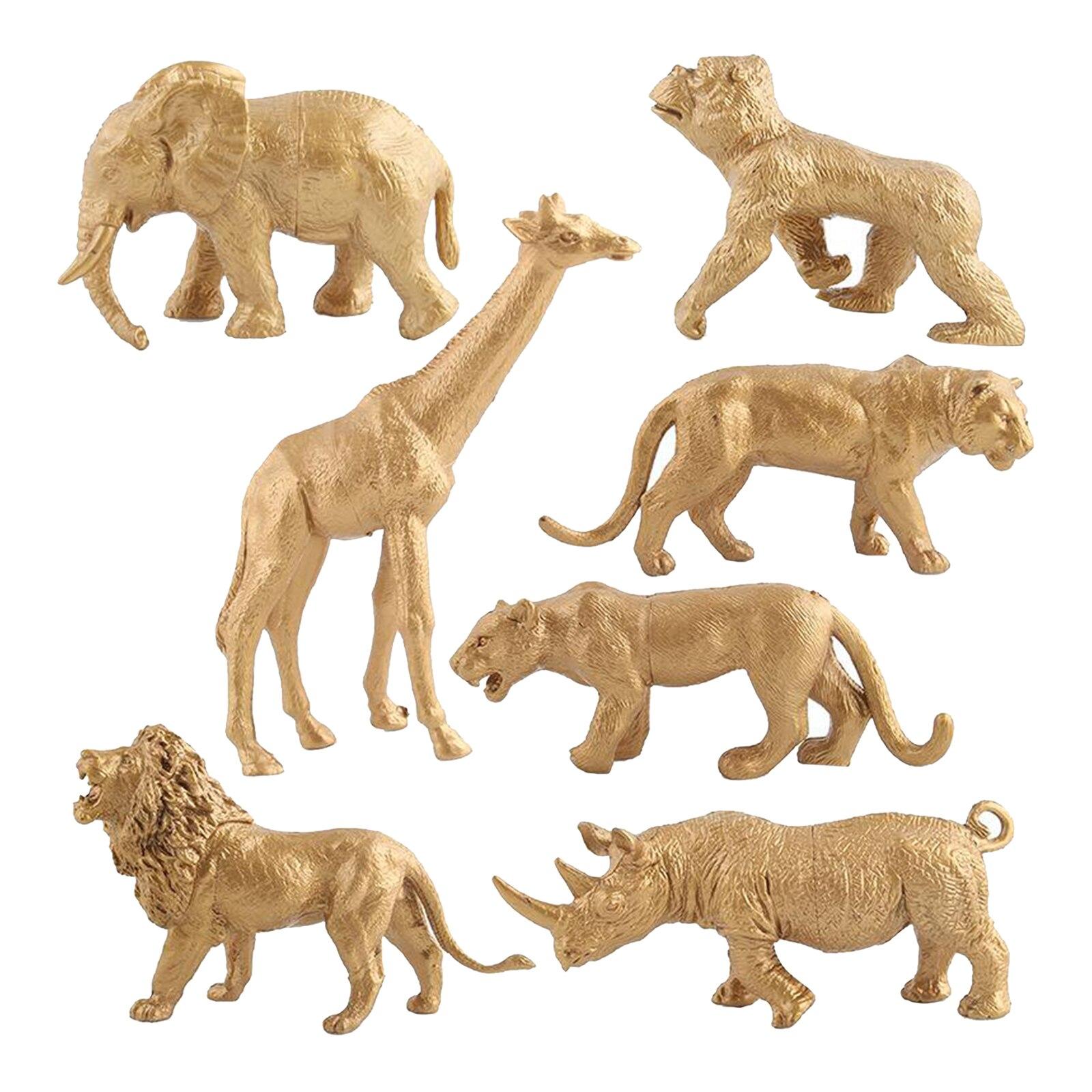 7 шт. Пластик моделирование дикий фигурки животных модель образовательной познание игрушка, вечерние свадебные сувениры для детей