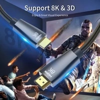 ultra hdmi compatible 2 1 cable 8k60hz hd 48gbps 8k hdr 3d zinc alloy shell audio arc for hdtv monitor ps4 ps5
