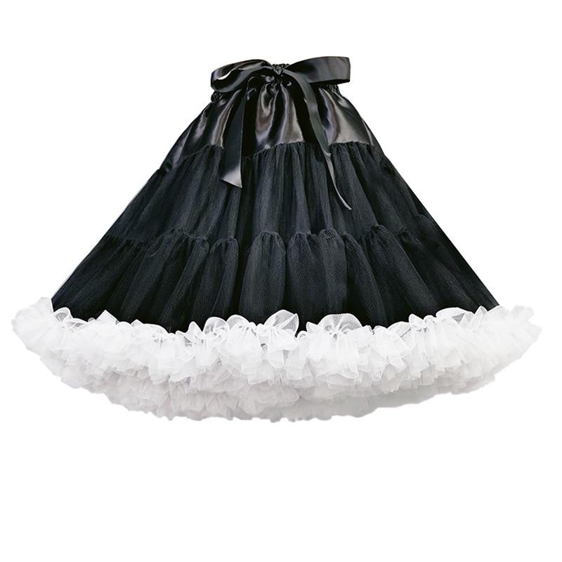 Trumpa tiulio apatinio trikotažo suknelė mergaičių sijonas - Vestuvių priedai - Nuotrauka 3