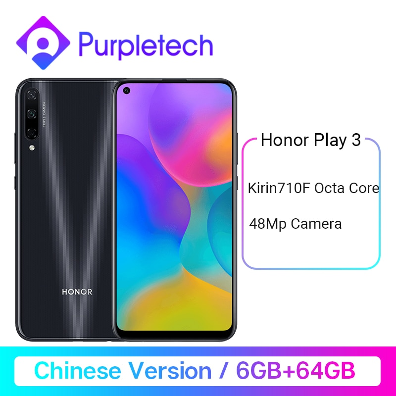 "Honor Juego 3 6GB 64GB Kirin 710 F Octa Core Smartphone 48MP AI Triple cámaras 6,39 ""Android P teléfono móvil"