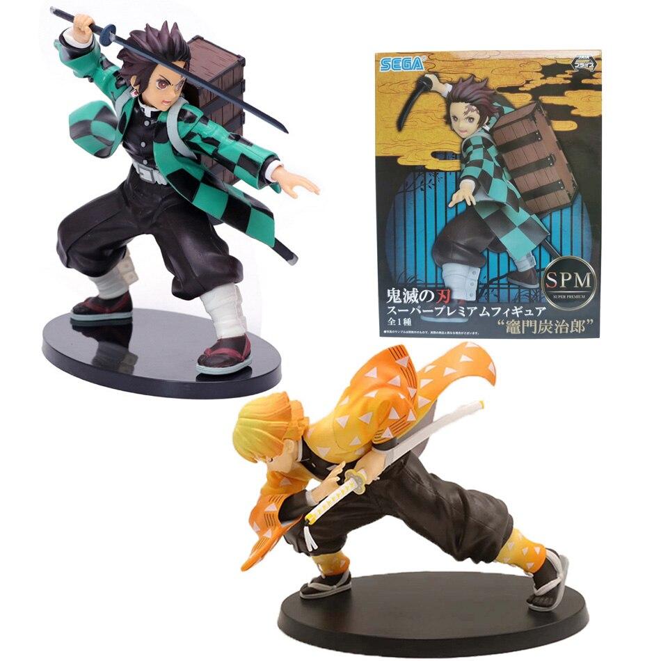 Kimetsu no Yaiba Figure 15cm Agatsuma Zenitsu Figurine Tanjirou Nezuko anime Demon Slayer action figure model toys doll gift