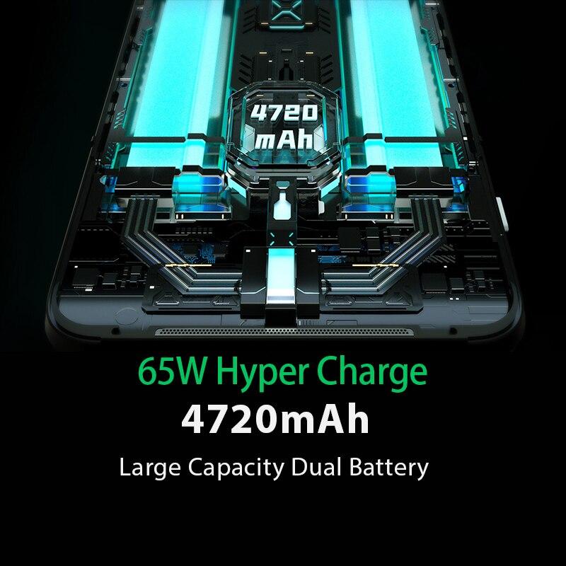 Фото2 - Глобальная версия черного цвета с изображением акулы 3 5G Snapdragon 865 8 ГБ 128 игры телефон Octa Core 64MP тройной AI камерами 65 Вт Зарядное устройство 4720 м...