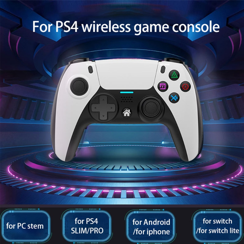 Bluetooth-compatible Wireless Game Controller For PS4 Elite/Slim/Pro Console Gamepad With Programmab